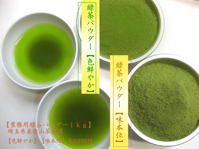 緑茶パウダー見本イメージ写真